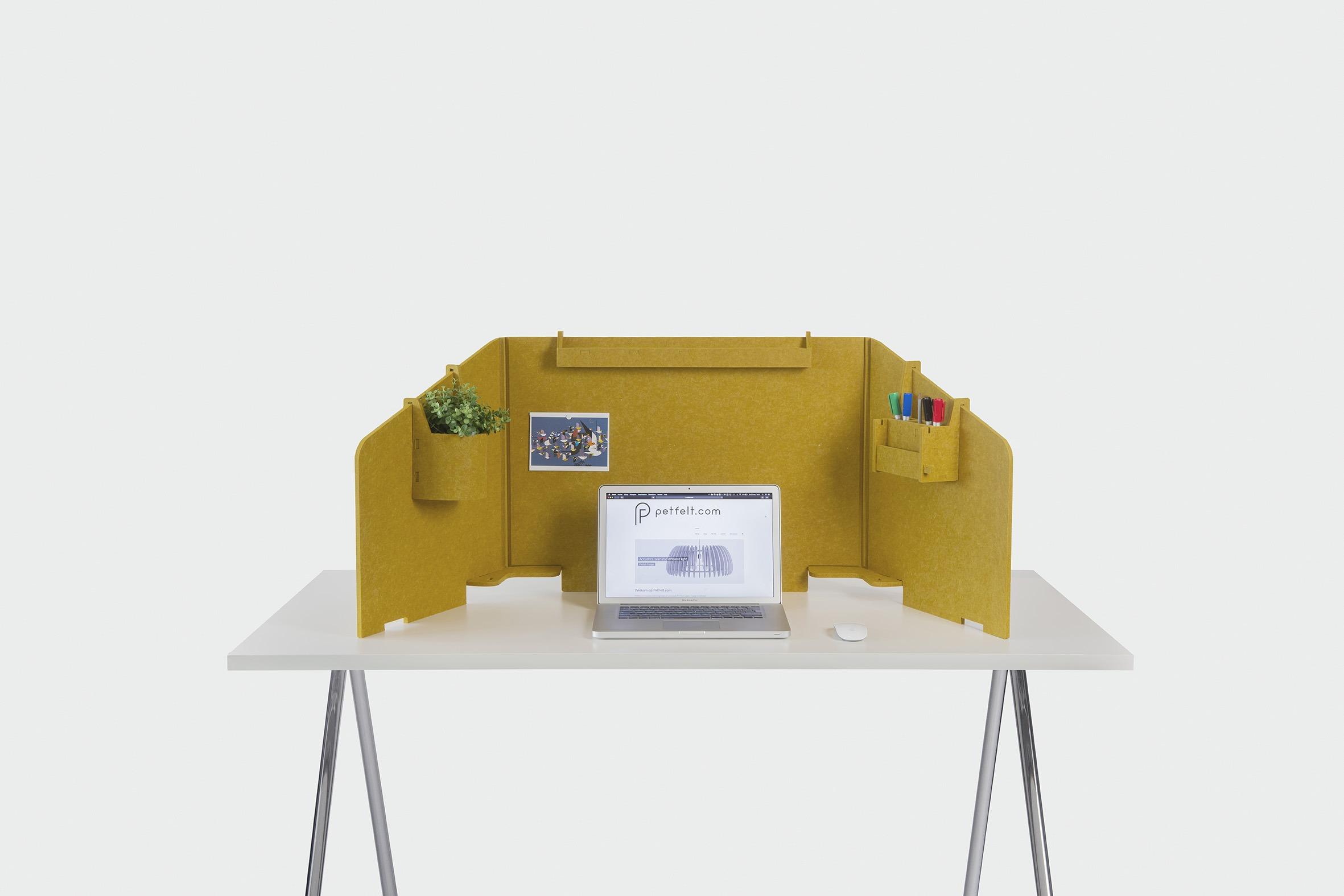 Fold bureauscherm