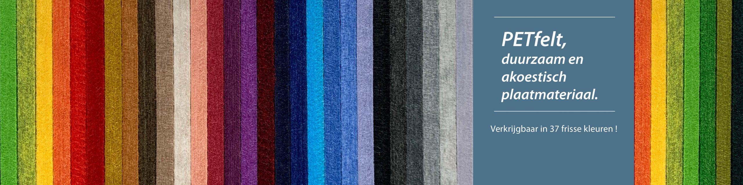 Petfelt in 37 kleuren